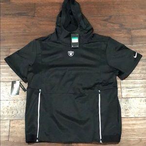 BRAND NEW Oakland Raiders short sleeve hoodie